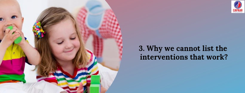 List of Interventions | Best Autism Spectrum Disorder Therapies in Bangalore