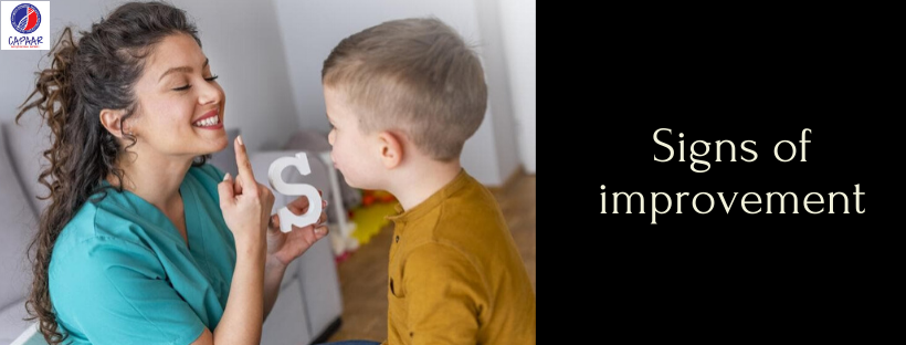 Signs of improvement in Speech Therapy